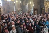 В день свята Богоявлення митрополит Никодим звершив Божественну літургію та чин великого освячення води в кафедральному соборі міста Житомира.