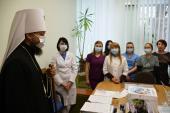 Митрополит Никодим привітав з різдвяними святами медичних працівників інфекційного відділення Житомирської міської лікарні №1.